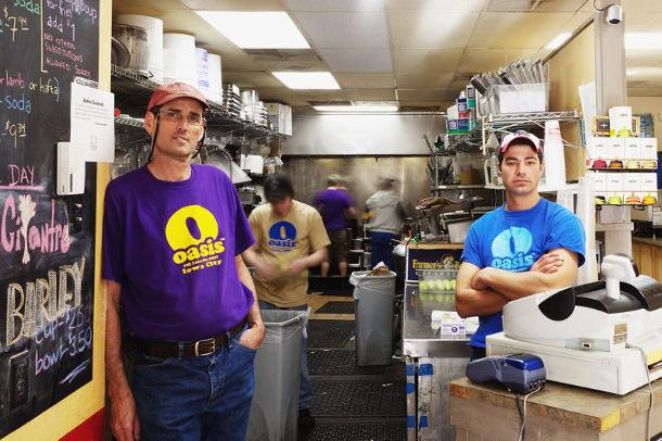 Oasis Falafel owners Naftaly Stramer and Ofer Sivan